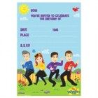 The Wiggles Invitations and Envelopes Pack of 8