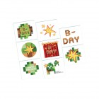 Minecraft Tattoo Favors Pack of 8