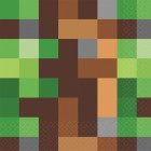 Minecraft Lunch Napkins Pack of 16