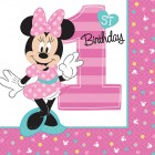Minnie Mouse 1st Birthday Lunch Napkins Pack of 16