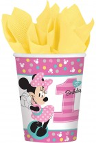 Minnie Mouse 1st Birthday Paper Cups Pack of 8