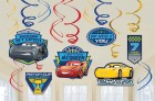 Disney Cars 3 Foil Hanging Swirls Pack of 12