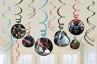 Star Wars Foil Hanging Swirls Pack of 12