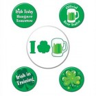 St. Patrick's Day Button Badges Pack of 5
