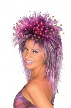 Fiber Optic Strands Purple Wig Women's Costume Accessory