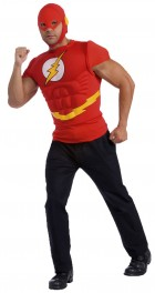 DC Comics The Flash Muscle Chest Adult Costume Kit