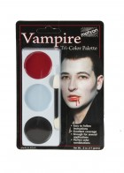 Mehron Tri Color Palette Vampire Adult Makeup Costume Accessory
