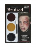 Mehron Tri Color Palette Bruise Adult Makeup Costume Accessory