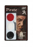 Mehron Tri Color Pirate Kit Palette Adult Face Painting Makeup Costume Accessory