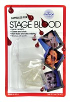 Mehron 12 Capsules for Stage Blood Vampire Werewolf Makeup Costume Accessory