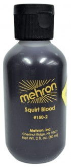 Mehron Artificial Squirt Blood 2oz Dark Professional FX Makeup Costume Accessory