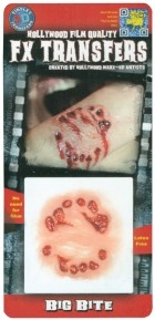 3D FX Big Bite Temporary Tattoo Adult Costume Body Paint