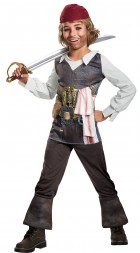 Pirates of the Caribbean Dead Men Tell No Tales Captain Jack Sparrow Classic Child Costume