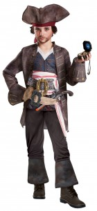 Pirates of the Caribbean Dead Men Tell No Tales Captain Jack Sparrow Deluxe Child Costume
