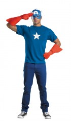 Simple Captain America Adult Costume Kit