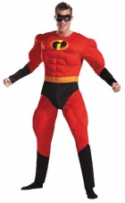 The Incredibles Mr. Incredible Deluxe Muscle Adult Plus Costume