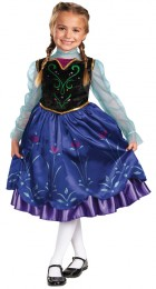 Disney Frozen Deluxe Anna Toddler / Child Girl's Costume