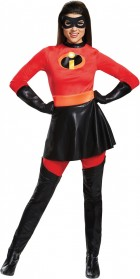 The Incredibles Elastigirl Mrs. Incredible Deluxe Skirt Adult Costume