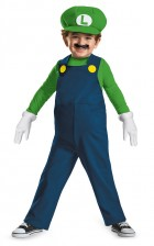 Super Mario Bros Luigi Toddler Costume 3-4T