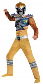 Power Rangers Dino Charge Gold Ranger Classic Muscle Child Costume 7-8