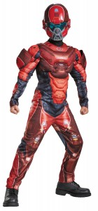 Halo Red Spartan Muscle Child Costume