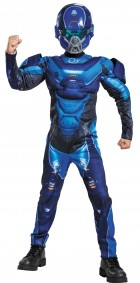 Halo Blue Spartan Muscle Child Costume