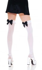 Women's Thigh Highs with Lace Top Nylon Sheer Costume Stockings