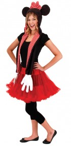 Disney Minnie Mouse Hoodie Scarf Women's Costume Accessory