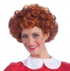 Adult Women's Orphan Annie Costume Red Curly Wig