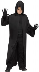 Hooded Robe Black Child Costume