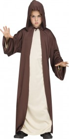 Hooded Robe Brown Child Costume