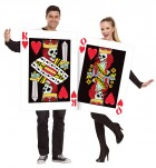 King and Queen of Hearts Cards Adult Couples Costume