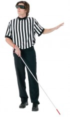 Adult Blind Referee Funny Gag Costume Accessory Kit