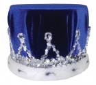 Blue Velvet Crown Adult Costume Accessory