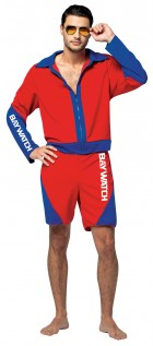 Baywatch Male Lifeguard Suit Adult Costume