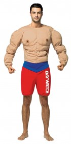 Baywatch Muscles Lifeguard Adult Costume
