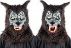 Animated Animal Brown Werewolf Mask With Sound Adult Costume Accessory
