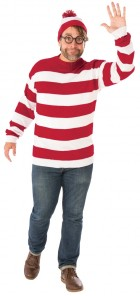 Where's Waldo Deluxe Adult Plus Costume