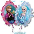 Shape Frozen Anna & Elsa 2 Sided 63cm x 78cm Foil Balloon