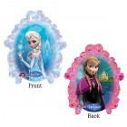 Mini Shape Frozen Anna & Elsa Portrait 2 Sided Foil Balloon