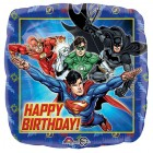 Justice League 45cm Happy Birthday Square Foil Balloon