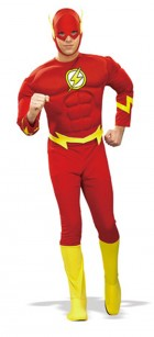 The Flash Muscle Chest Fancy Dress Adult Costume