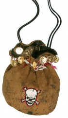 Pirate's Booty Pouch Bag Skull Adult's Costume Accessory_thumb.jpg