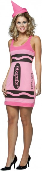 Crayola Tickle Me Pink Crayon Tank Dress Adult Women's Costume_thumb.jpg