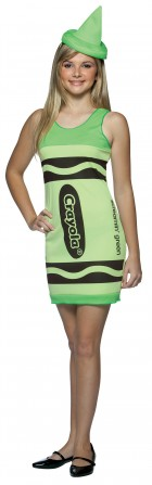 Screamin' Green Crayola Crayon Teen Girl's Costume_thumb.jpg