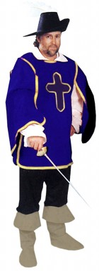 Cavalier Man Adult Costume Blue One Size_thumb.jpg