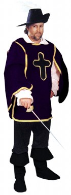 Cavalier Man Adult Costume Purple One Size_thumb.jpg