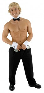 Male Stripper Dancer Cuff and Collar with Bowtie Costume Kit_thumb.jpg