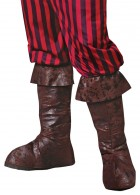 Adult Medieval Buccaneer Pirate Leather-look Boot Tops Costume _thumb.jpg