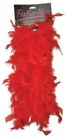 1920's Flapper Women's 6ft Red Feather Boa Costume Accessory_thumb.jpg